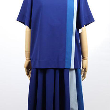 カラーパネルワンピース c/#BLUE   55626-105
