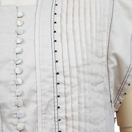 ビーズ刺繍ブラウス   c/#BEIGE  85611-008