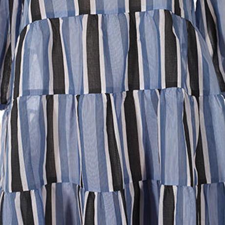 ワイドストライプワンピース   c/#BLUE 55699-105