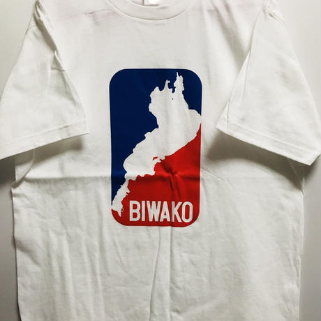 【M】琵琶湖 トリコロール Tシャツ 5.6オンス