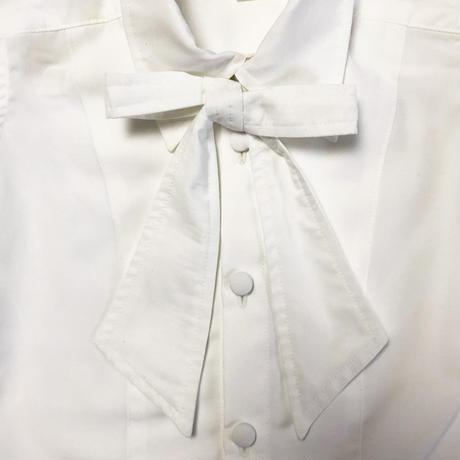 back seam shirt -リボン付きー