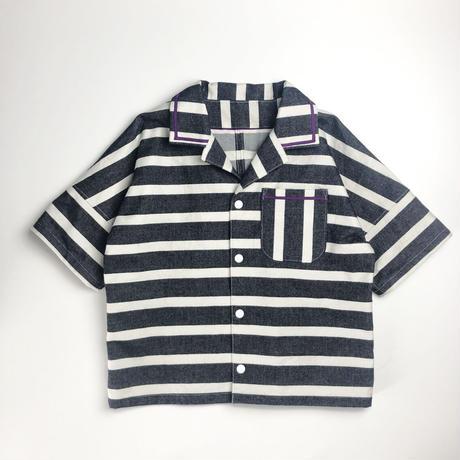 stripe  shirt jacket