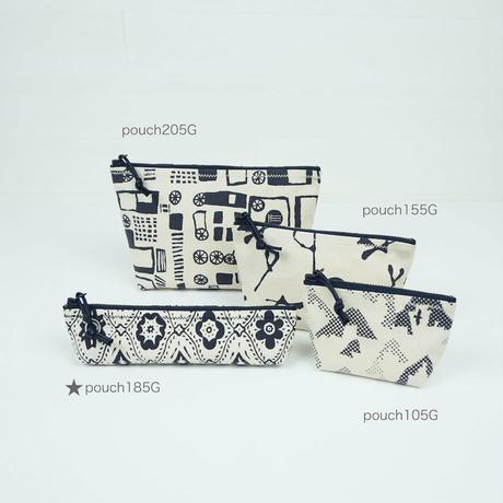 pouch 185G アイボリー×黒