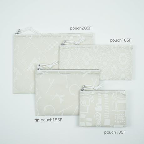 pouch 155F パール×白