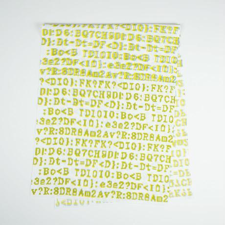 手拭い【 bug 】黄 × 灰
