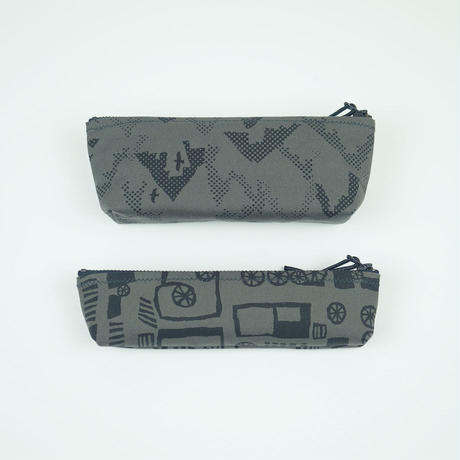 pouch 185G グレー×黒