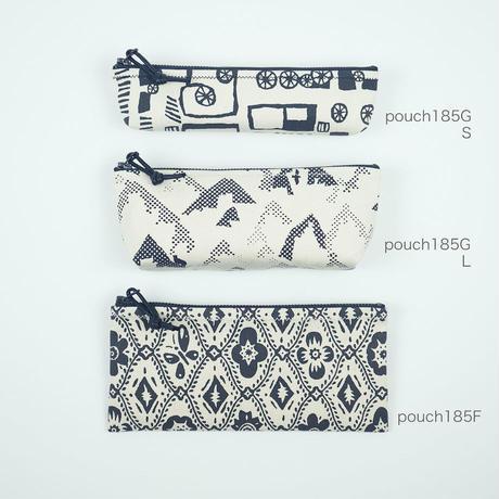 pouch 185F アイボリー×黒