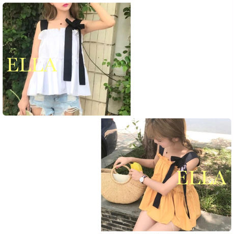 Ribon summer tops/WHT