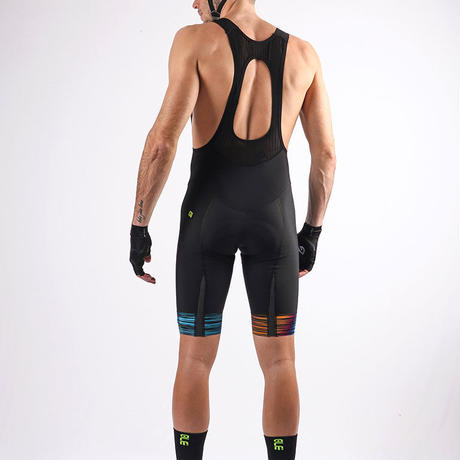 THE END BIBSHORTS (BLK-MULTI)