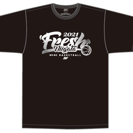 【限定受注販売】新潟県フレッシュU10バスケットボール2021大会記念(黒)Tシャツ(出場全チーム名入り)