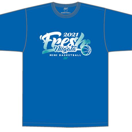【限定受注販売】新潟県フレッシュU10バスケットボール2021大会記念(青)Tシャツ(出場全チーム名入り)