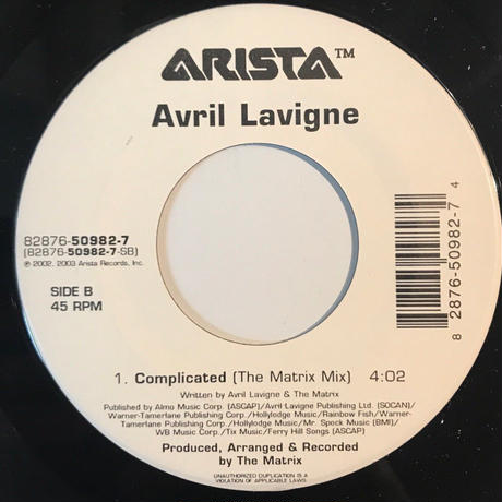 AVRIL LAVIGNE:COMPLICATED