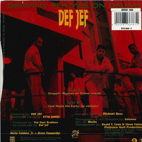 DEF JEF:DROPPIN' RHTMES ON DRUMS