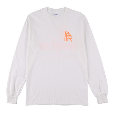 Original Long Tee(White × Orange)