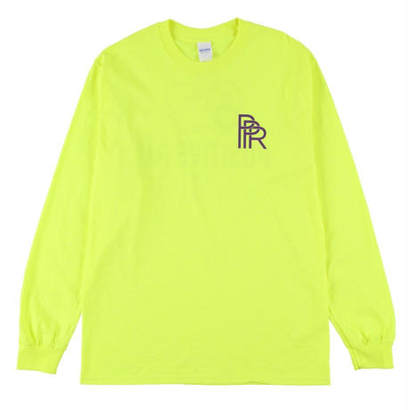 Original Long Tee(Safety Green × Purple)
