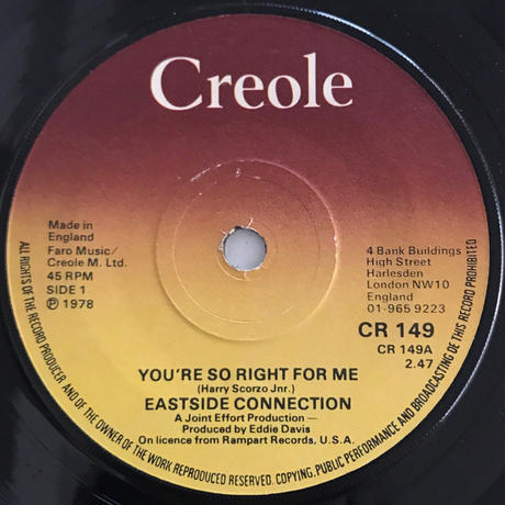 EASTSIDE CONNECTION:YOU'RE SO RIGHT FOR ME