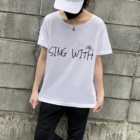Sing With T-Shirts(White)