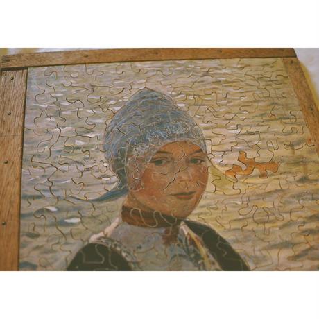 コアフの女性・木製パズル/1900France