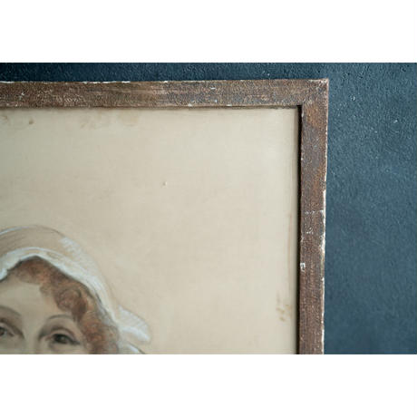 Emilienne Milani作・コアフをかぶる女性