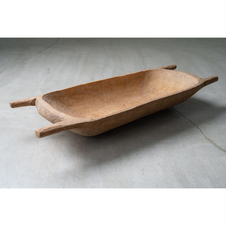 Antique wooden dough bowl