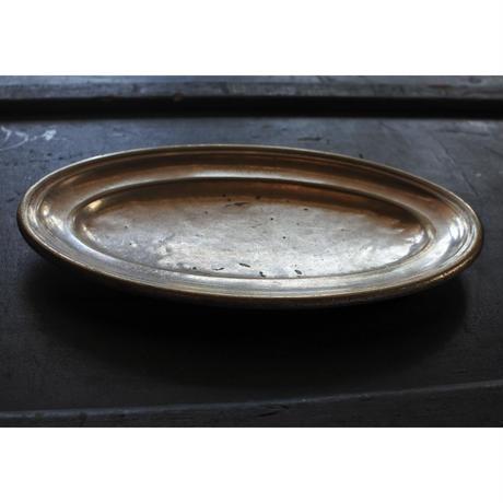 アンティーク・Silver plateオーバルプレート(Monaco)