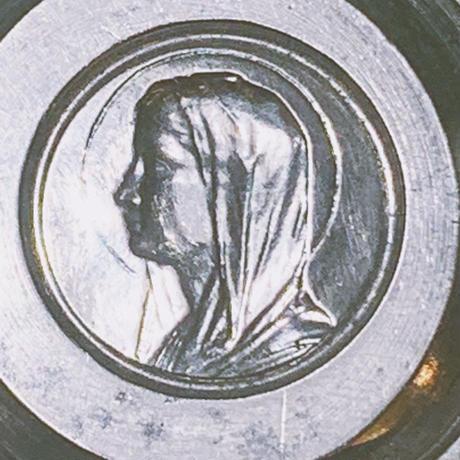 アンティークメダイユの型・聖女