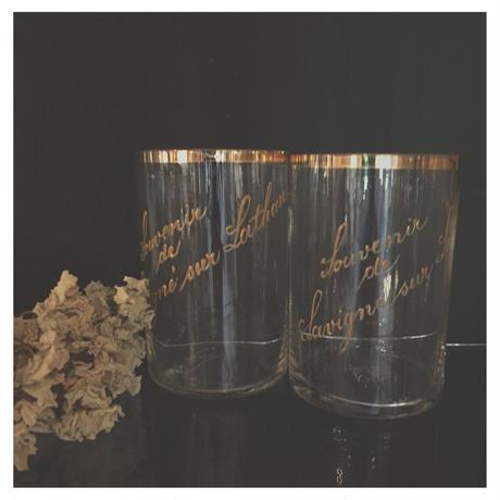 吹き硝子のグラス フランスアンティーク