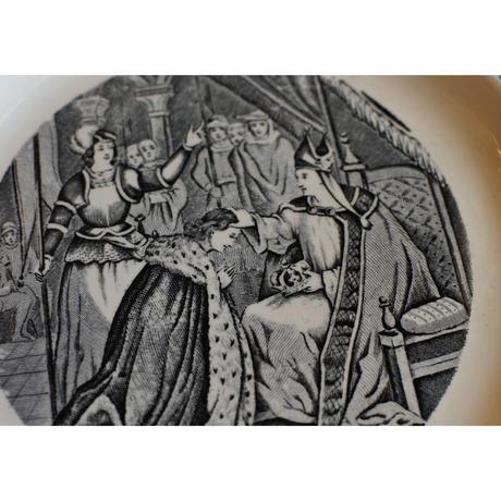 アンティークプレート2枚セット(Histoire deJeanne d'Arc)