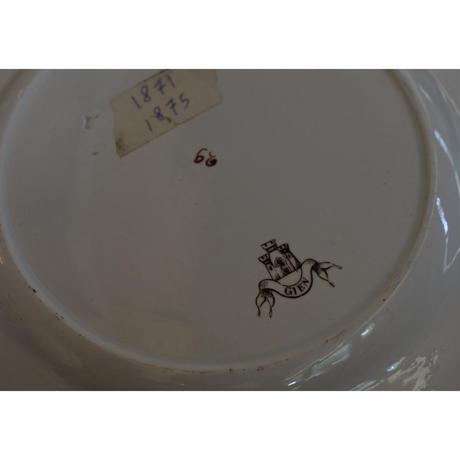 GIEN 家紋入りプレートφ25cm /1871-75France