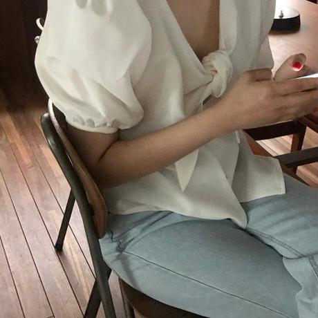 【予約販売】2way ribbon blouse