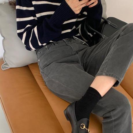 【予約販売】moca denim  pants