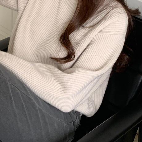 【予約販売】lib natural wool knit