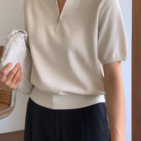 【即納】zip summer knit