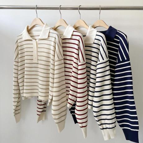 【予約販売】border color knit