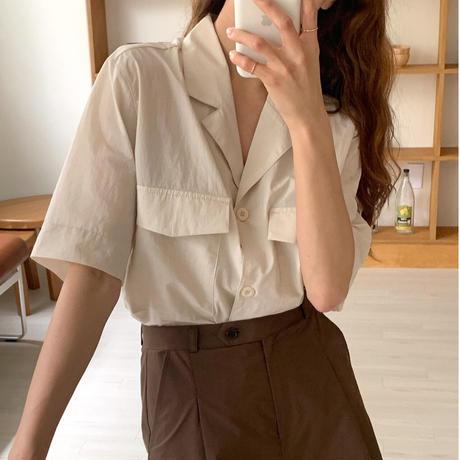 【予約販売】double pocket shirt