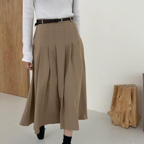 【即納】pleats lady skirt