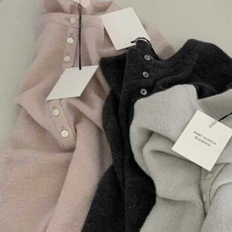 【予約販売】baby alpaca knit tops
