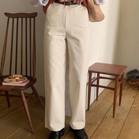 【即納】cream salt pants ( belt set )