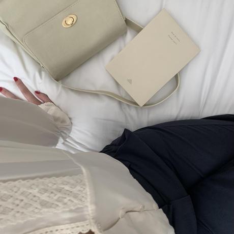 【予約販売】silky lace blouse