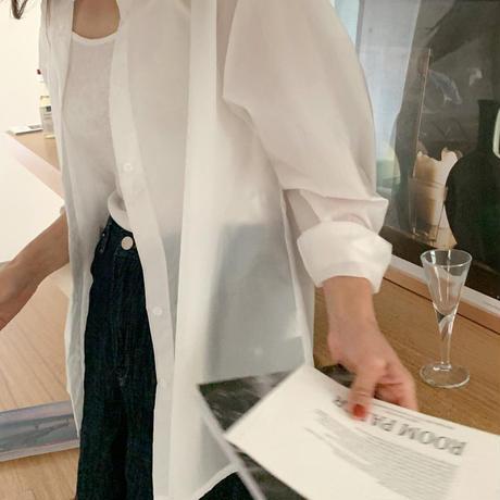 【予約販売】sheer shirt