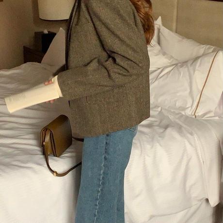 【予約販売】wool herringbone jacket