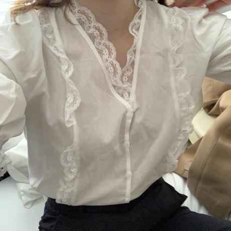 【即納】elegant lace blouse