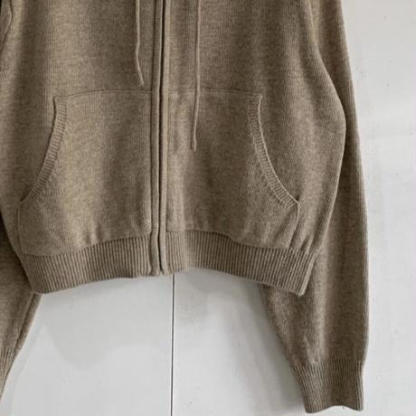 【予約販売】chas knit zip up parker