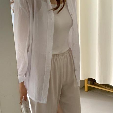 【予約販売】sheer cotton shirt