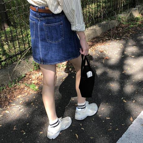 【予約販売】monte denim skirt