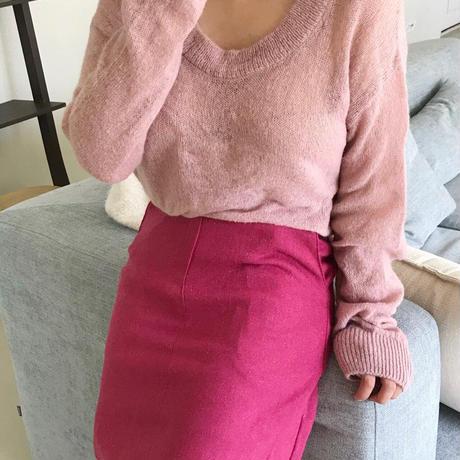 【予約販売】mohair knit
