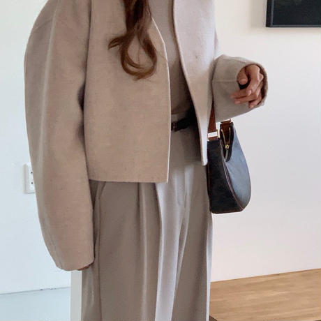 【予約販売】no collar handmade jacket