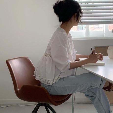 【予約販売】cotton lace blouse