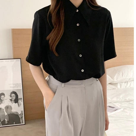 【即納】summer natural blouse