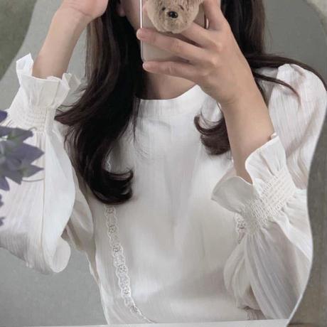 【予約販売】peplum frill blouse